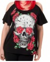 Camiseta Skull Roses