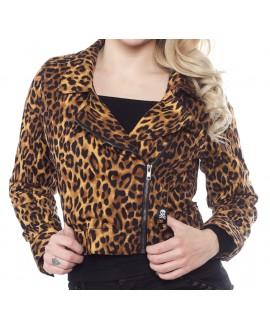 Cazadora Leopardo