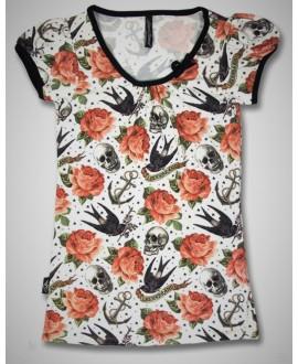 Camiseta Rose tattoo