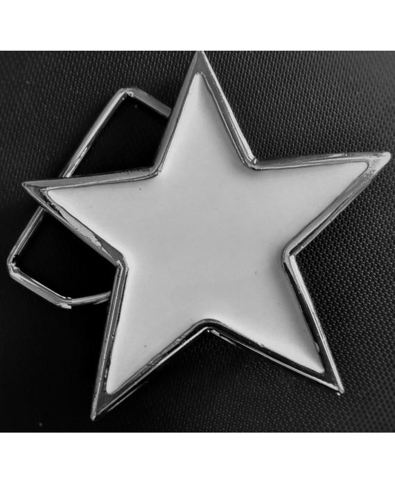 Hebilla Estrella Blanca