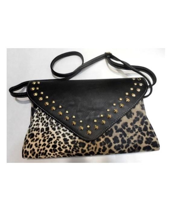 Bolso Leopardo Tachuelas
