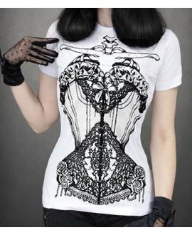 Camiseta corsé blanca