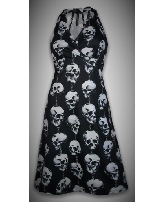 Vestido Calaveras Cadena 13 De Picas Shop